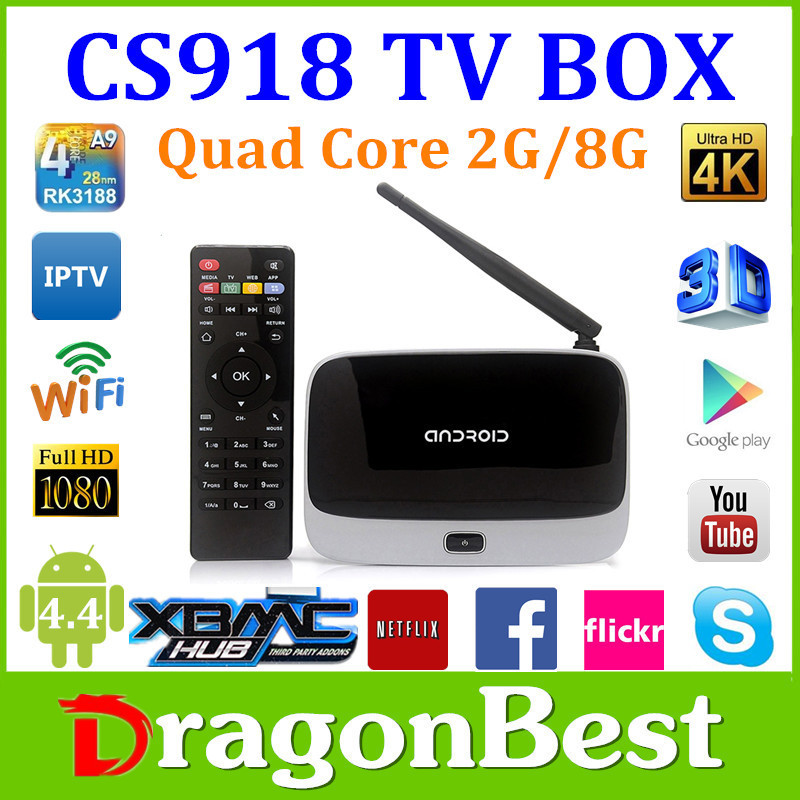 5pcs 2015 Hottest CS918 2G/8G Android TV box 1080P RK3188T Quad-core Q7 Media Player Mic XBMC DLNA Miracast WIFI LAN tv box(China (Mainland))