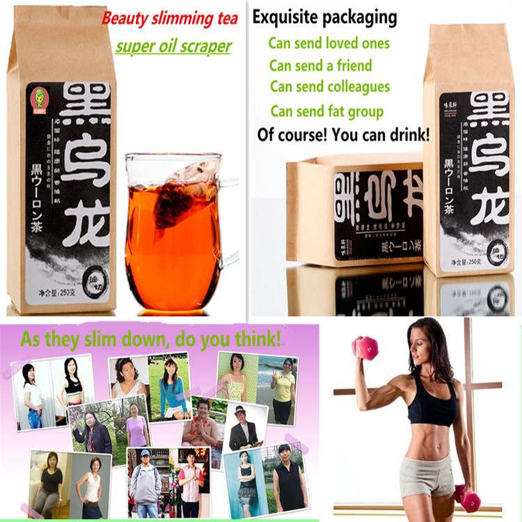 128g chinese oolong tea Black Tieguanyin oil cut black oolong tea for weight loss slimming tea