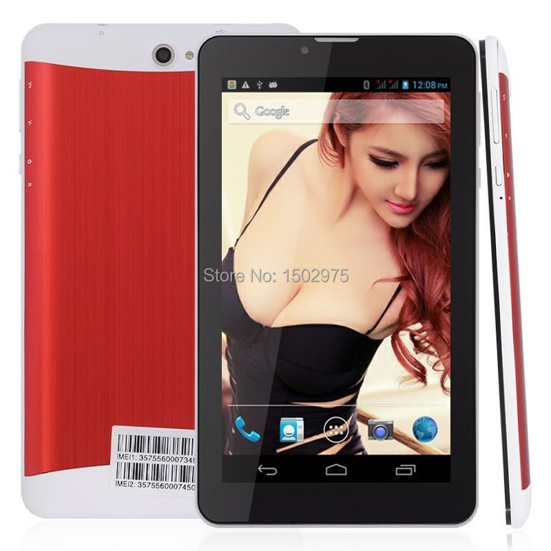 7'' Dual Core 3G Dual Sim GPS Cell Phone Android 4.2 Bluetooth HD Red(China (Mainland))