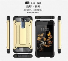 Buy Plastic + Silicone Hybrid Shock Proof Armor Cases For LG K4 K5 K7 K8 K10 K6P K350 K371 Dual Layer Heavy Duty Phone Covers Shell for $2.79 in AliExpress store