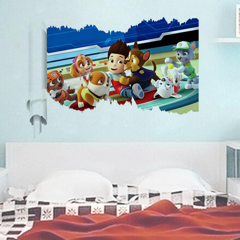 2pcs 15% off 3d wall stickers decals kids gift room decor 1463. adesivos de paredes home art animal mural art movie poster 2.5(China (Mainland))