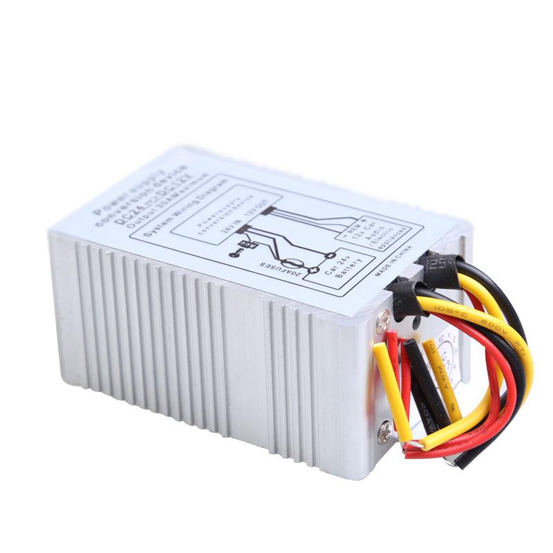 24V to 12V DC-DC Car Power Supply Inverter Converter Conversion Device 30A ME3L(China (Mainland))