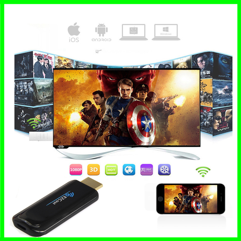 Ezcast 5G Dual wifi Android TV Stick Miracast Airplay Dongle 1080P Mini PC Better than Google Chromecast 2 Generation(China (Mainland))