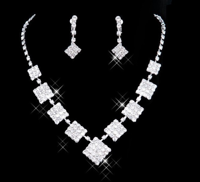 Cheap Wedding Nacklace &Earring  Bridal Jewelry Set