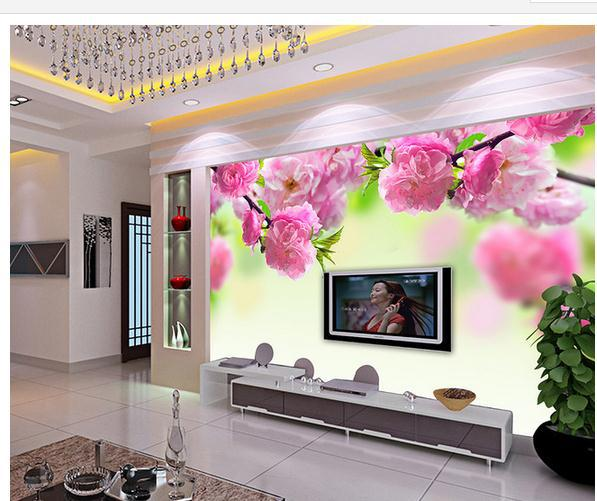 large wallpaper Custom Beautiful flower vine mural wall paper papel de parede stickers 8429 - China-3d CO.,LTD. store