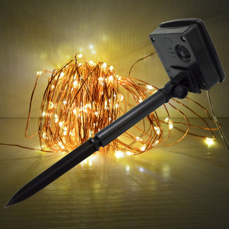 Landscape Lighting Led Conversion : Led string light waterproof outdoor m solar function upgrade
