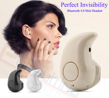 Ultra Mini earphone Noise Cancelling Wireless Stereo Bluetooth 4.0 stealth Earphone Car Handsfree Headset With Microphone(China (Mainland))