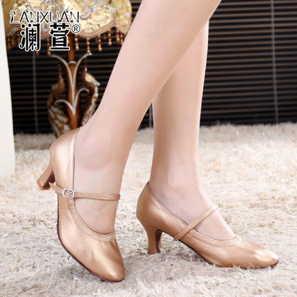 dance shoes women leather social dancers ballet shoes with modern dancing shoes kanye west dance teachers leather women shoes(China (Mainland))