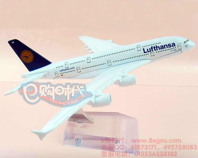 Free Shipping 16cm Metal airlines plane model Lufthansa German Airlines 737-800 aircraft model airplane model for children toys(China (Mainland))