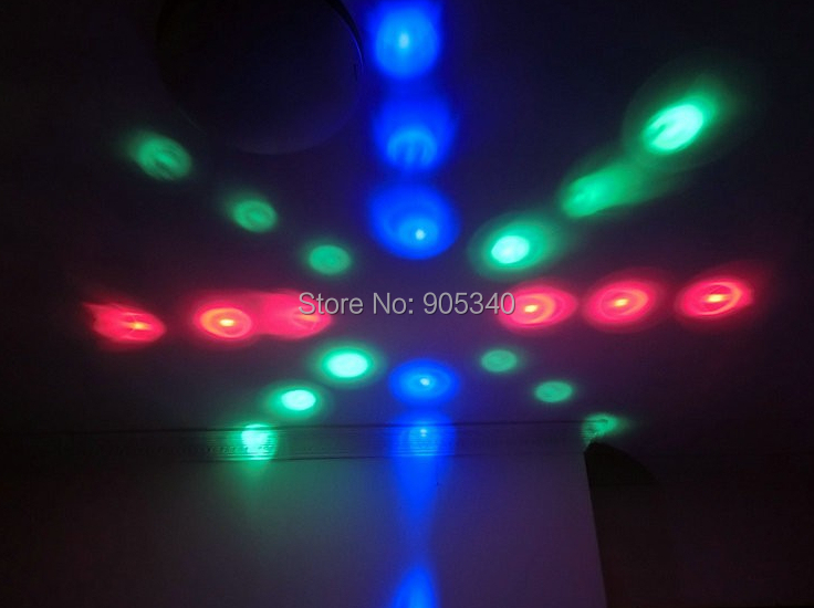 New product AC85-260V Voice-activated E27 DJ Stage Light LED moonflower Light + bluetooth speaker for holiday party DJ lighting(China (Mainland))
