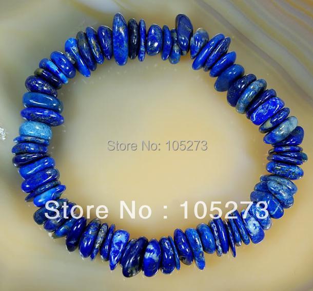 Здесь можно купить  New Arriver Chirstmas Jewellery ! Stunning AA 8X0-10X12MM Natural Lapis Lazuli Gemstone 8inch Elastic Bracelet New Free Shipping  Ювелирные изделия и часы