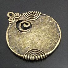 Buy 6PCS 48*45mm Antique Style Bronze Ancient Tone Round Shaped Alloy Charm Pendants Crafts Jewelry Accessory Finding Charms, 01744 for $2.81 in AliExpress store