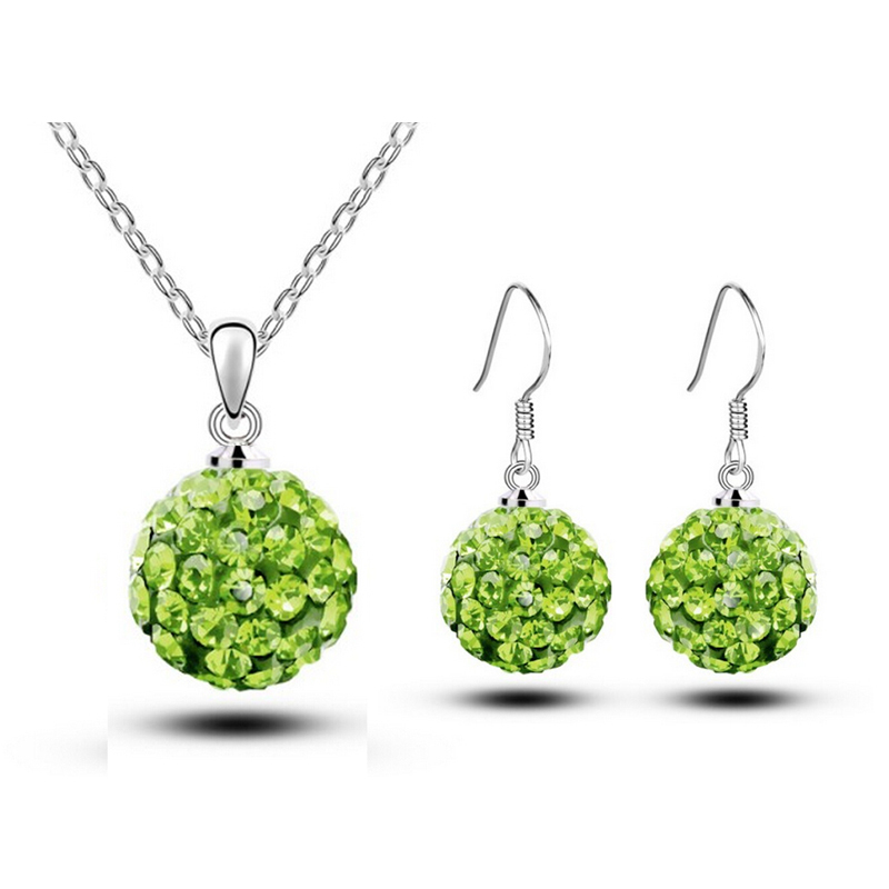 Necklace+Earring, White Gold Plated Shinning Ball Design Austrian Crystal fashion Jewelry Sets 2014111318 - Better & More store