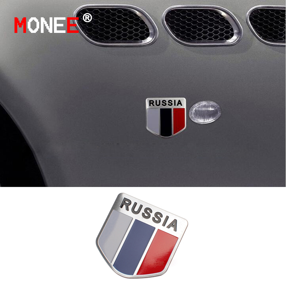 5*5CM 3D Russian National Flag Car Stickers car styling vinyl decal sticker for Cars Acessories decoration(China (Mainland))
