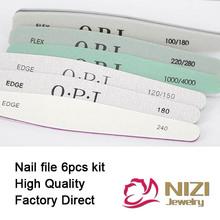 Retail Nail Files New 6pcs/set Nail Art File Nail Buffer Sandpaper Slim kit Set 6 styles Available Manicure Pedicure Nail Tools(Hong Kong)