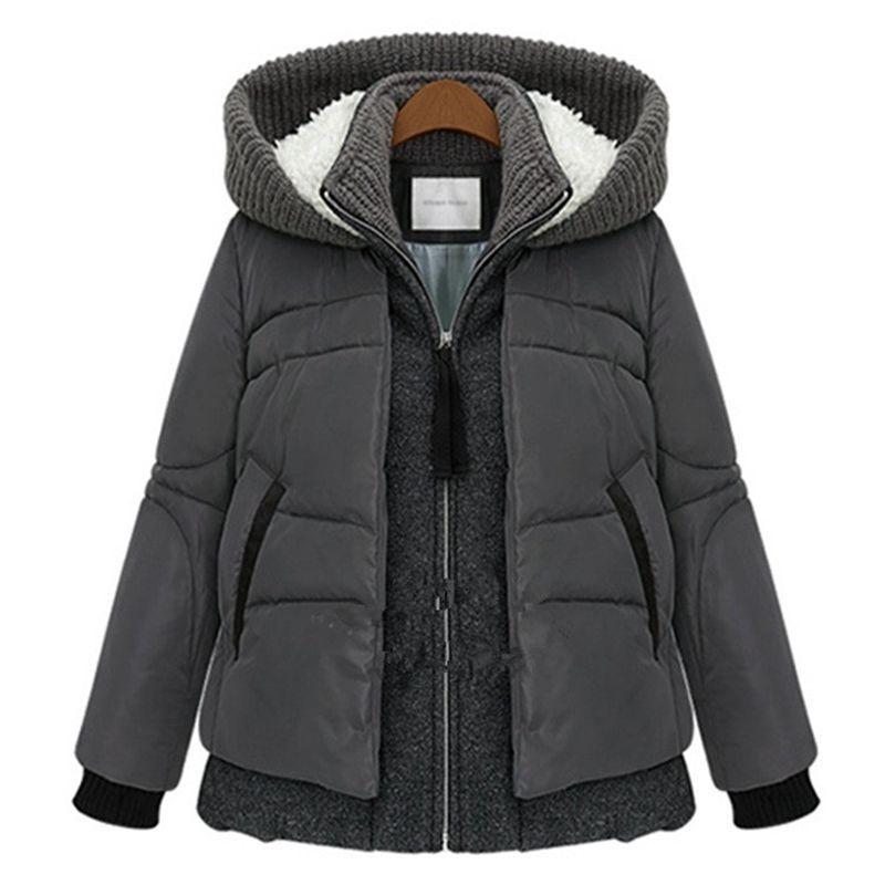 Winter Jacket Women 2015 New Europe Style Fashion Loose Coat female Medium Long Plus Size Cotton Jacket For Women Hot ZL0804 Îäåæäà è àêñåññóàðû<br><br>