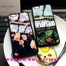 Case for iPhone 5 5s SE 6 6s Plus Cover Korea Seoul Brand ADVISORY Parental Explicit Content Soft Silicon Coque Funda Carcasa @(China (Mainland))