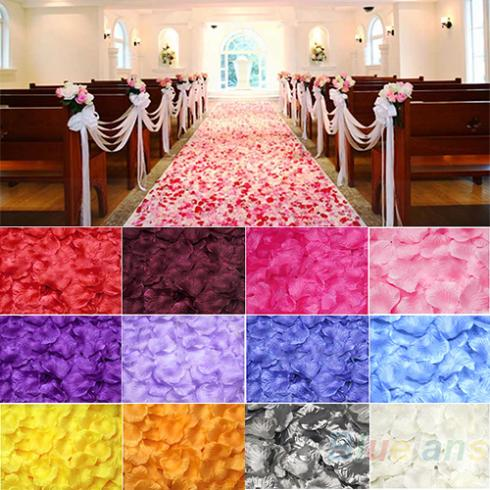 100pcs Silk Rose Flower Petals Leaves Wedding Table Decorations Event Party Supplies Multi Color Wreaths 1E9E(China (Mainland))
