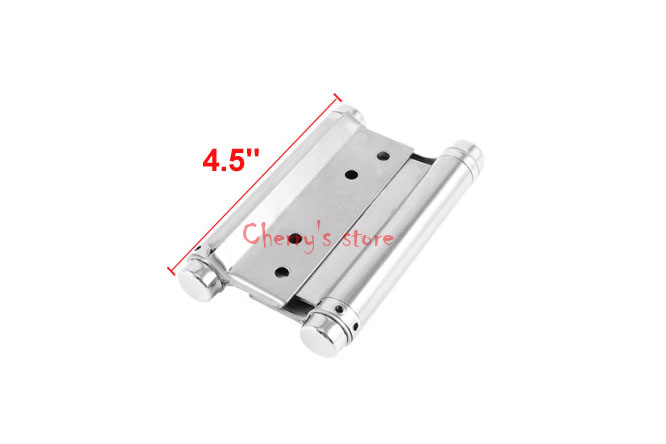 Silver Tone Dual Spring Loaded 304 Stainless Steel Cabinets Drawer Door Butt Hinge(China (Mainland))