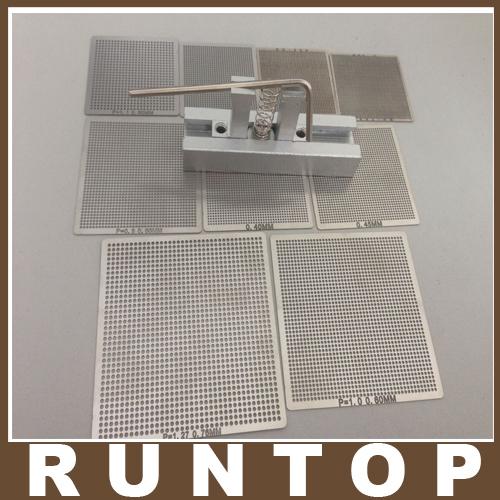9 pcs /set Bga Reballing Universal Stencil Tample Kit with free Universal Reball Station(China (Mainland))