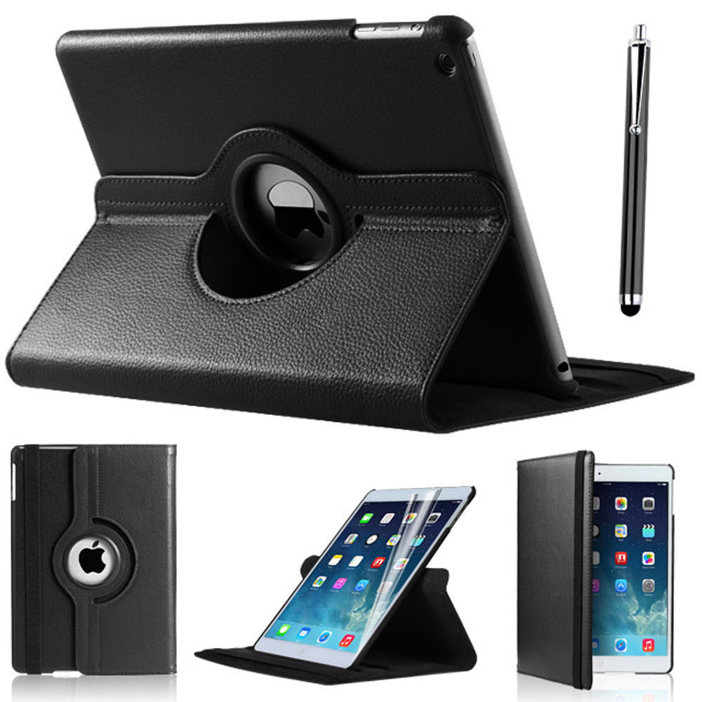 LEATHER 360 DEGREE ROTATING COVER STAND CASE FOR NEW APPLE iPAD 5 iPAD AIR 2013(China (Mainland))