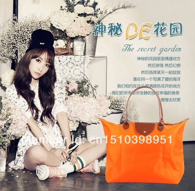 fashion shopping bags,can flod to make another small bags,many color,suit for all seasons,fashion and casual 305(China (Mainland))