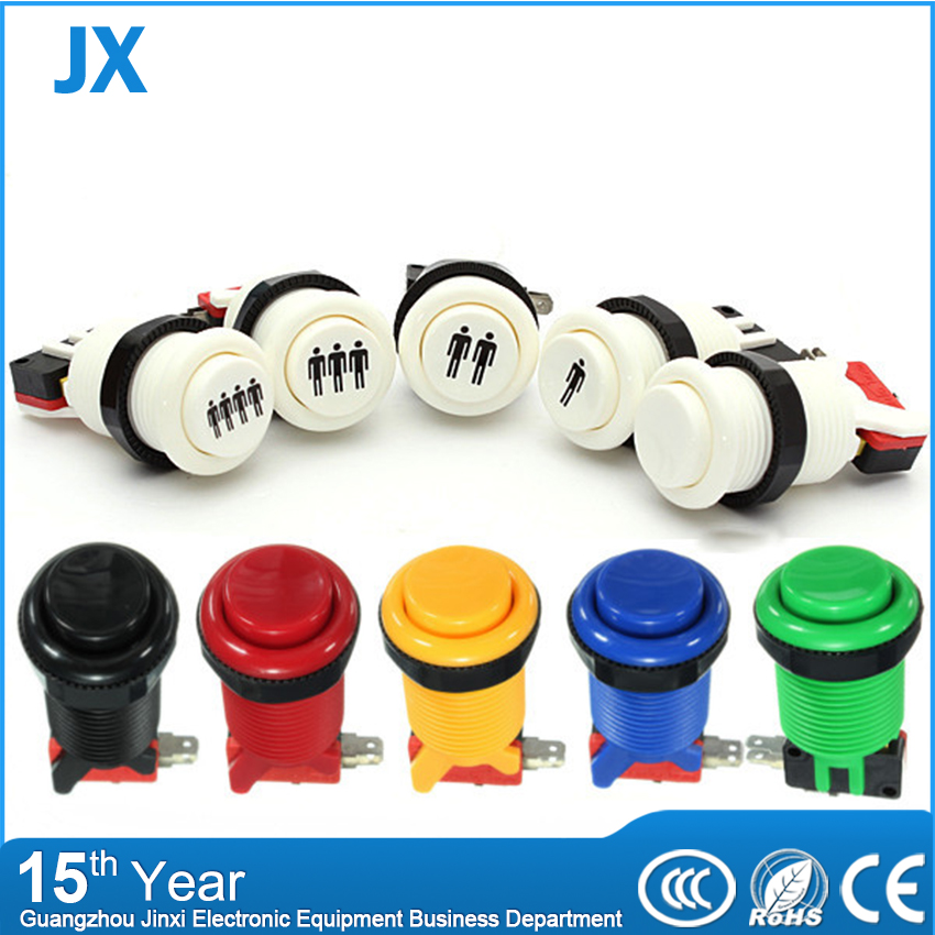 2016 New Arcade Push Button Durable Multicade MAME Jamma Game Long Switch Mult-color 1 pcs(China (Mainland))