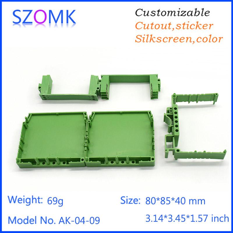 4 pcs, 80*85*25mm abs plastic electronics box din rail shell enclosure electric equipment project box diy distribution box<br><br>Aliexpress