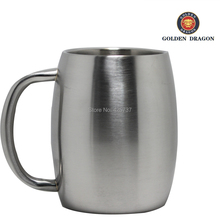 16OZ Double Wall  barrel shaped stainless steel  beer mug(China (Mainland))