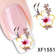 New Fashion Water Transfer Flower Decal Women Stickers Nail Art Acrylic Manicure Tips DIY Sell Hotting(China (Mainland))
