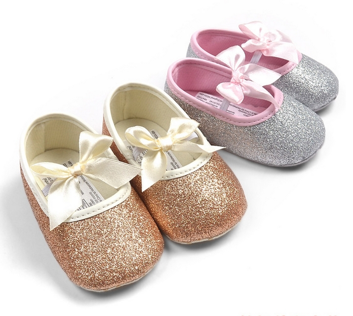 Baby Girl Princess Sparkly Shoes Infant Cute Princess Golden Silver Footwear Toddlers Fashion Soft Sole Shoes Drop Free Shipping(China (Mainland))