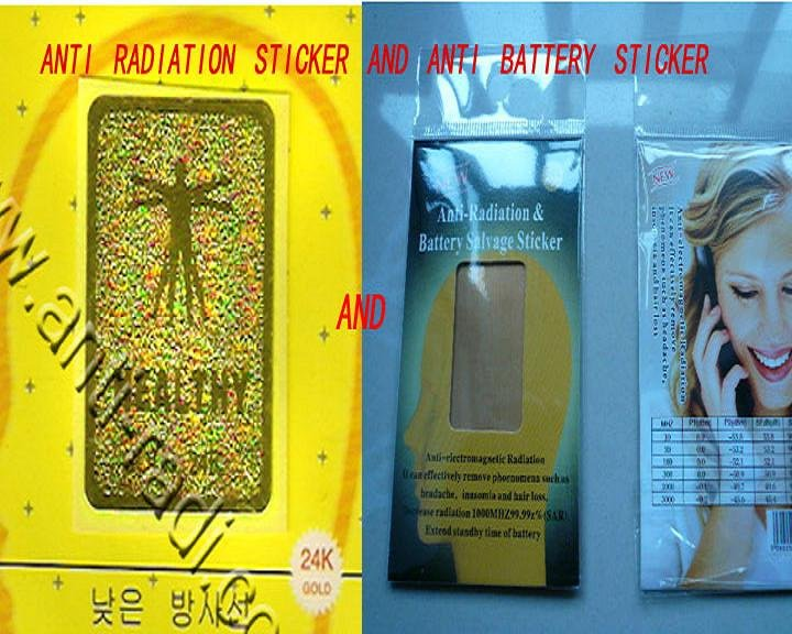Christmas gift Manufacture Hotsale-Gold 24K anti mobile radiation stickersone+Anti radiation battery enhancer chips<br><br>Aliexpress