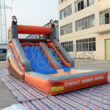 Outdoor Inflatable Water Slide Pool Jungle Water Slide Inflatable slide with Pool For Sale(China (Mainland))