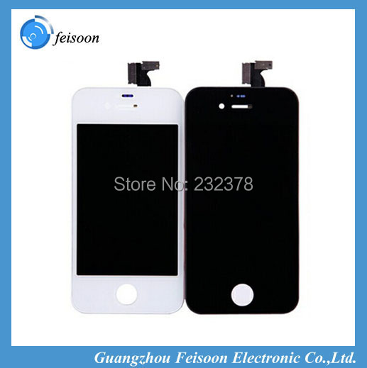 lcd with touch screen digitizer For iphone 4 4G white or black color Assembly Free shipping by DHL EMS 10pcs/lot(China (Mainland))
