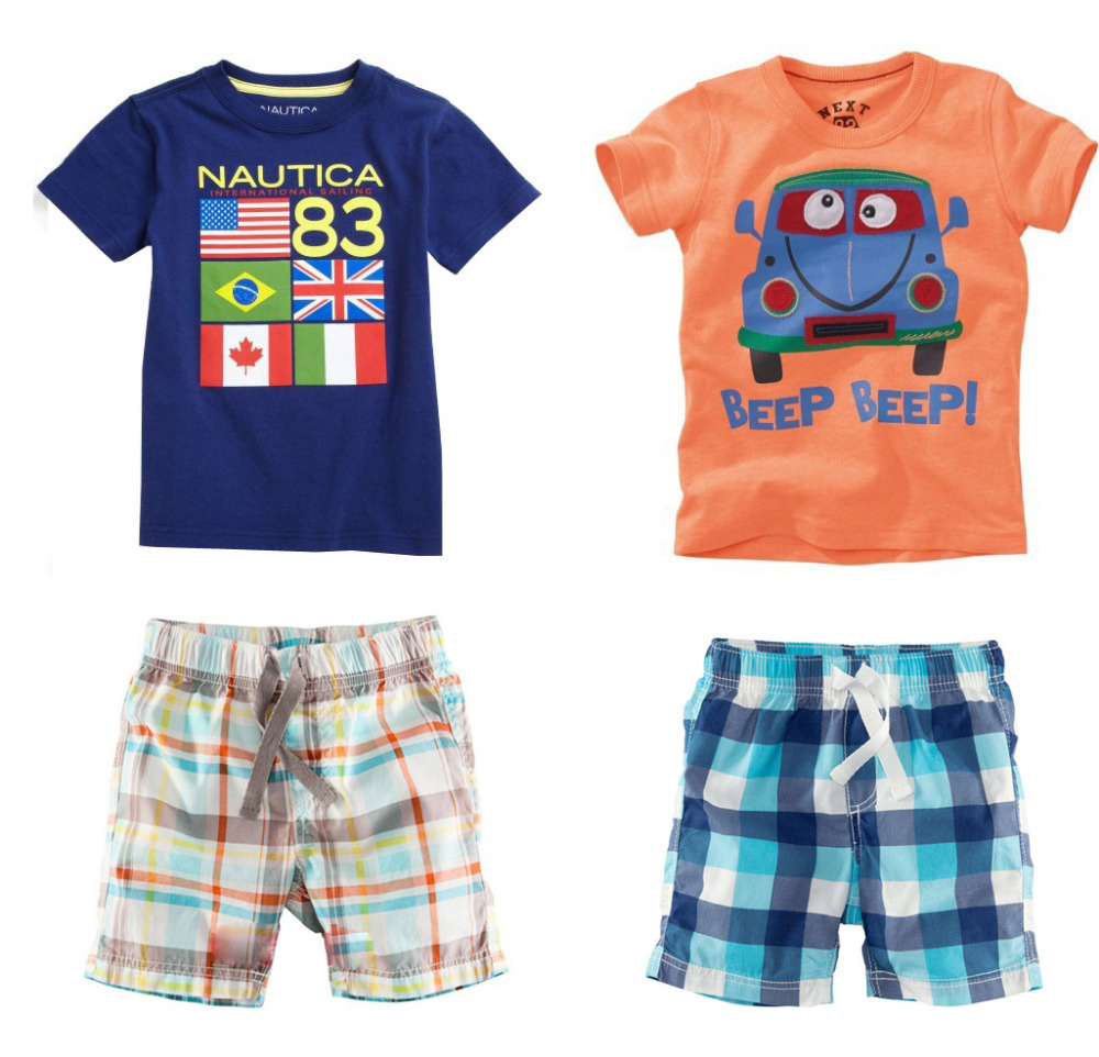2014 New baby Boy Clothing Set Kids clothes children's clothing 2PCS T-shirts+pants ski suit next roupas meninos free shipping(China (Mainland))
