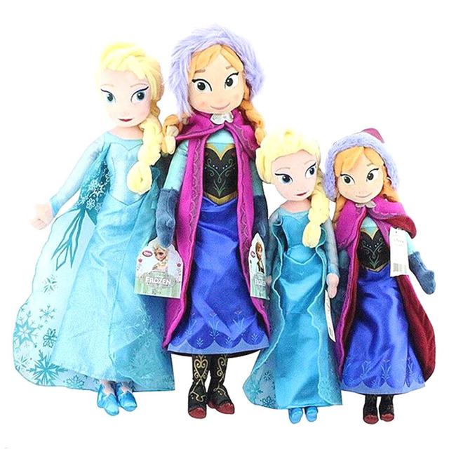 Эльза И Анна Принцесса Плюшевые Игрушки Куклы Девушки Игрушки Детские Дети Brinquedos 40 см и 50 см Игрушки Рождество Новый Год Подарки Бесплатная Доставка