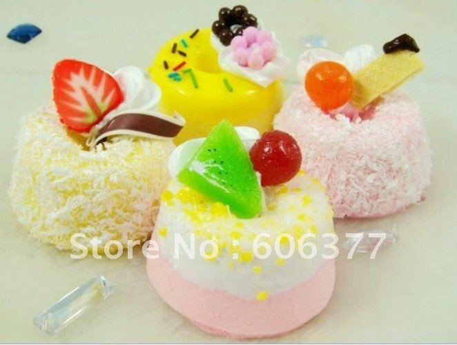 new cream/fruit pudding squishy phone charm/free shipping