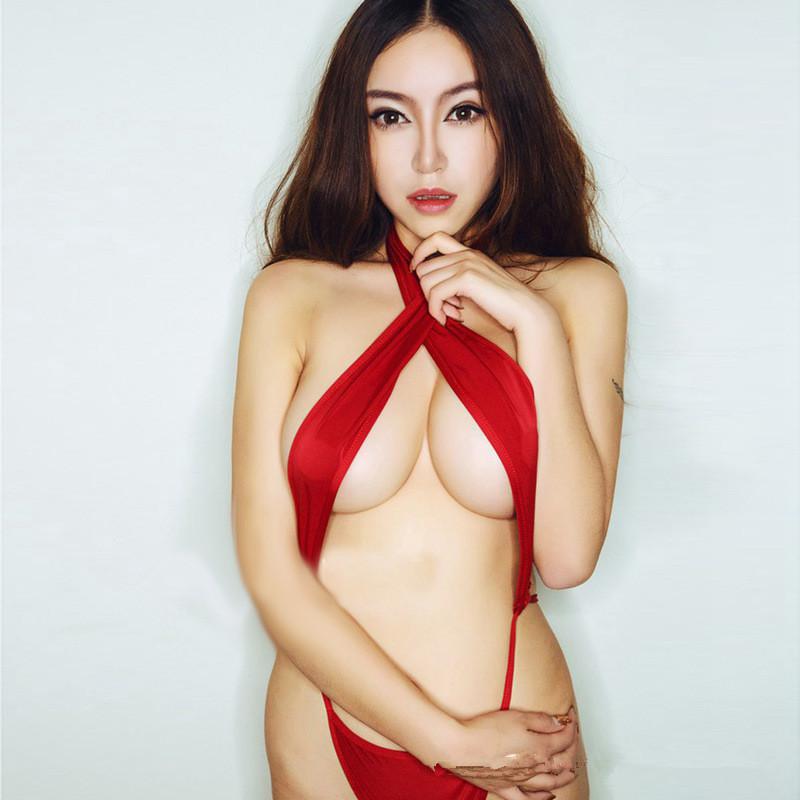 Vogue Dresses Sex Toys Pajamas Passionate Red Silk Ribbon Shoulder Strap Underwear(China (Mainland))