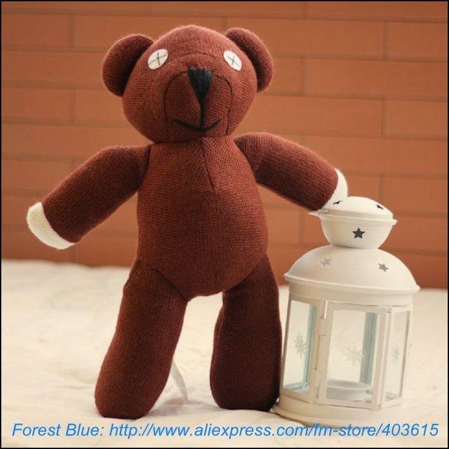 "Free Shipping 2pcs/lot Mr Bean Teddy Bear Animal Stuffed Plush Toy,9"" Brown Figure Doll Child Christmas Gift Toys Wholesale"