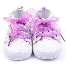 Baby Shoes Girls Cotton Floral Infant Soft Sole Baby First Walker Toddler Shoes(China (Mainland))
