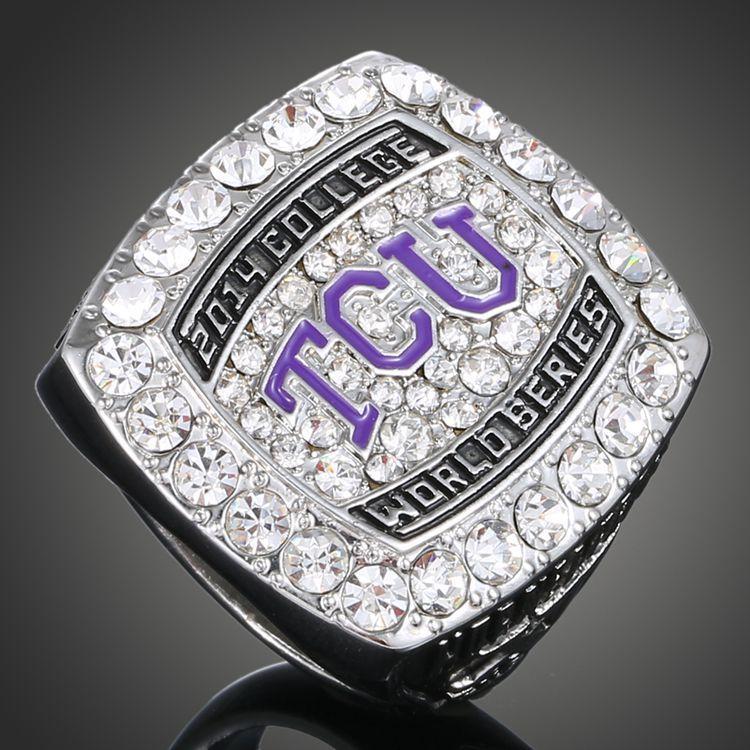 Hot Sale Replica Ring 2015TCU American Texas Christian University Horned Frogs Baseball Championship Ring Free Shopping(China (Mainland))