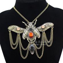 Victorian Khepri Scarab Beetle Watch Clock Hand Gear Cog Steampunk Necklace  Jewelry Free Shipping