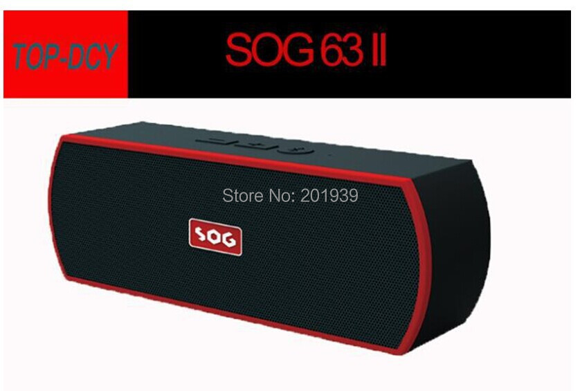 High Quality SOG-63II Protable Bluetooth Wireless SD TF Speakers passive woofer for iphone S4<br><br>Aliexpress