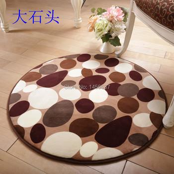 ковры Круглой формы коврики и ковры для гостиной йога коврик камень / цветы шаблон диаметр 0.8 м / 1 м ковер на пол ковер в гостинную коврик