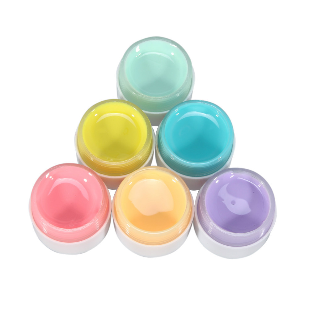 Free Shipping 6 Pots Pure Colors Decor  UV Gel Nail Art Tips Extension Manicure 6pcs/Set Nail Gel  #02 <br><br>Aliexpress