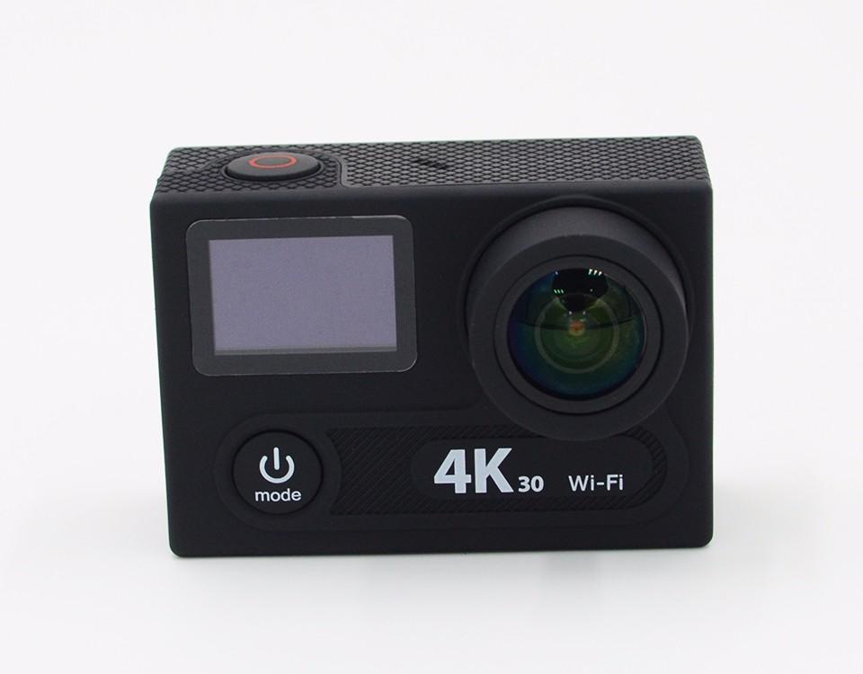 ถูก ใหม่! H8R 4พัน30fpsการกระทำกีฬากล้อง30เมตรกันน้ำหน้าจอคู่กับ2.4กรัมการควบคุมระยะไกล360 VRยิงwifi controlbไปpro4