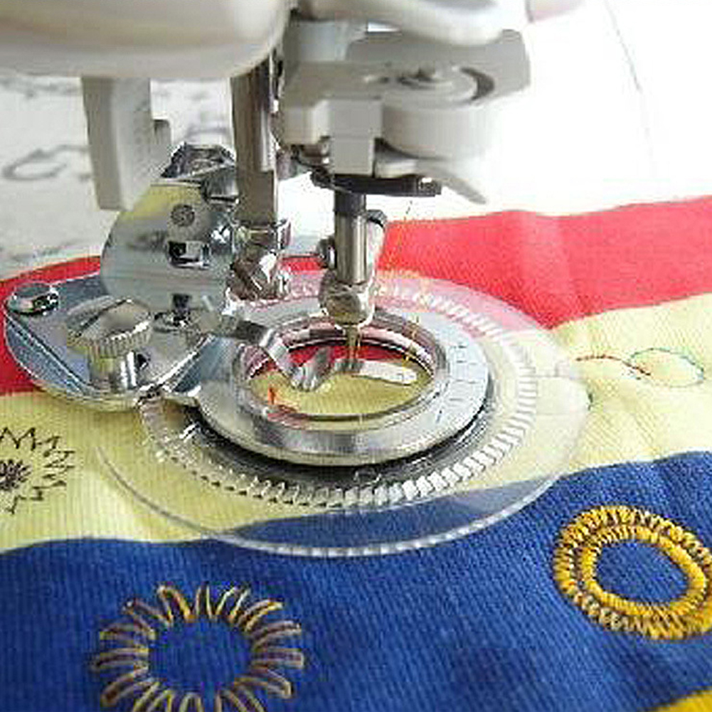 Fancy Flower Stitch Round Stitch Presser Foot Flower Embroidery Foot For Domestic Sewing Machine