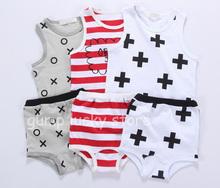 2015 Bobo Choses kids Nununu  Beau Loves Children sets Vest Shirt +Shorts 2pcs for baby girls boys fille enfant vetement summer(China (Mainland))
