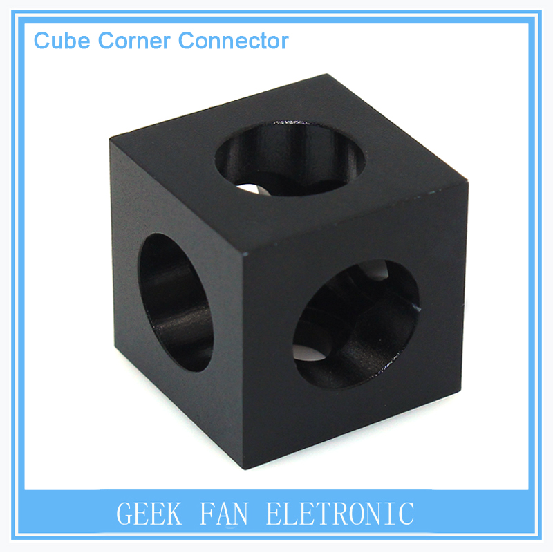 CNC 3D Printers V-slots Stand Holder Parts Cube Corner Connector Bracket For Openbuilds C-beam Aluminum Profile Extrusion 3D0277(China (Mainland))