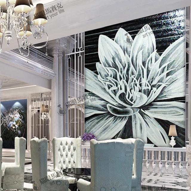 S113 loto bagno in bianco e nero mosaico dell'immagine taglio ...